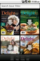 Screenshot of Delight Gluten-Free Magazine