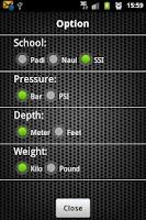 Screenshot of Scuba Diving Calculator Pro