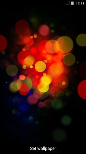 彩色霓虹光暈動態壁紙
