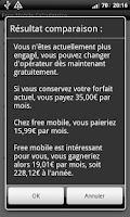 Screenshot of Free Mobile Calculatrice