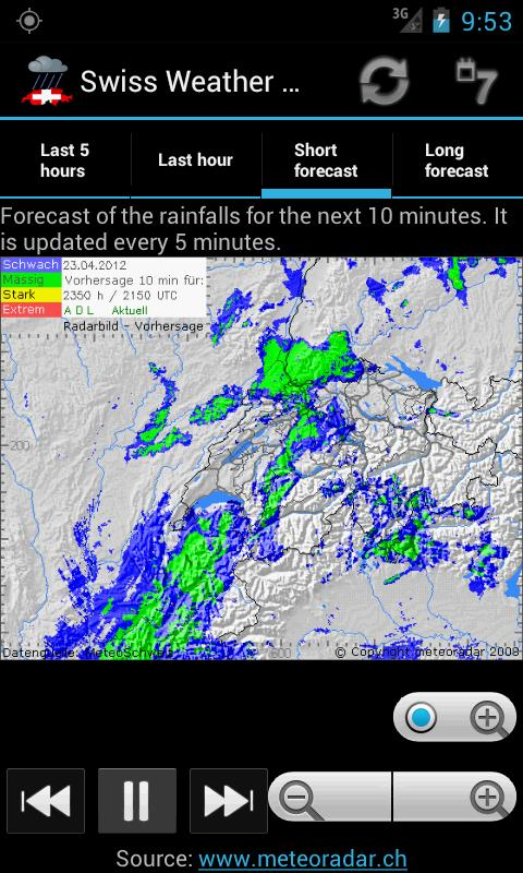 Swiss Weather Radar - screenshot