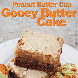 Chocolate Peanut Butter Gooey Butter Cake.