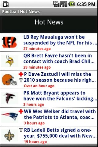 Football Hot News - screenshot