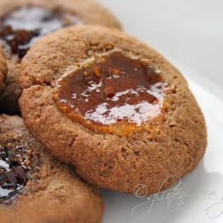 Thumbprint Cookies with Buckwheat Flour + Brown Sugar.