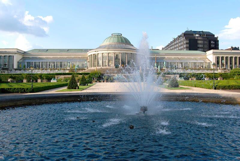 View of the Jardin Botanique in Brussels, Belgium.