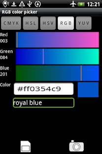 Rgb Color Picker - screenshot thumbnail