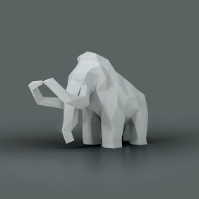 Faceted Mammoth Sculpture