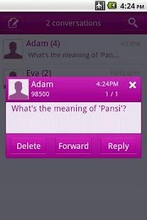 Easy SMS solid Purple theme screenshot