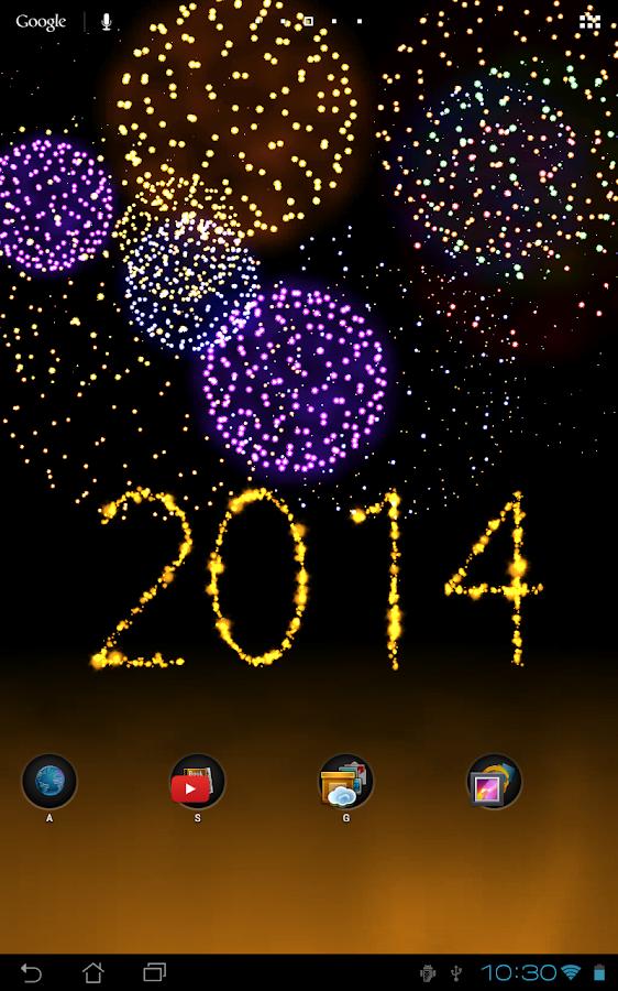 New Year fireworks - theme dep