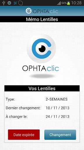OPHTAclic Rappel Lentilles