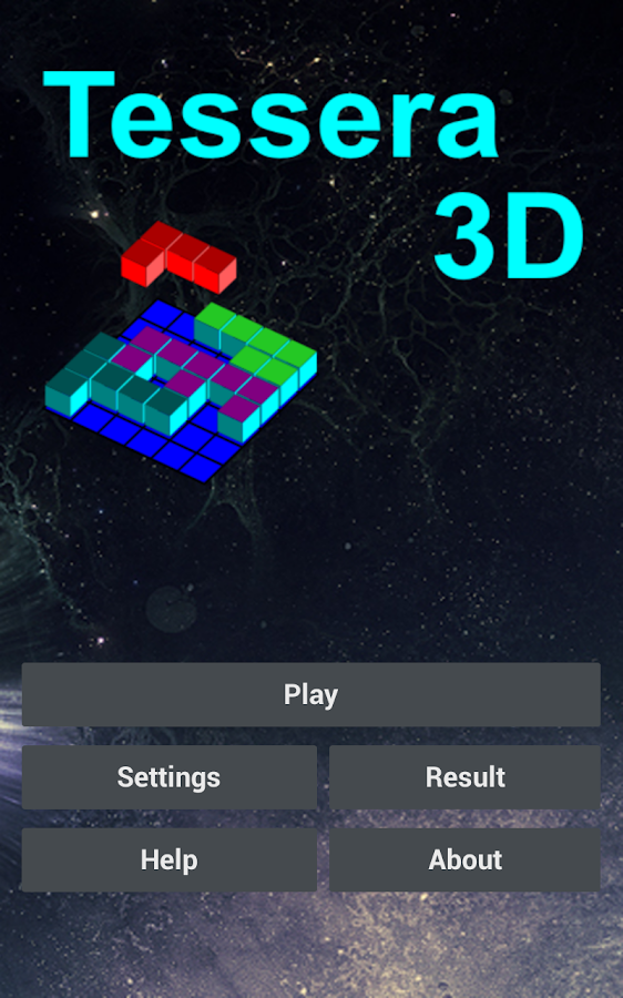 Tessera3D 3-dimensional puzzle - screenshot