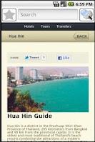 Screenshot of Hua Hin Travel Guide