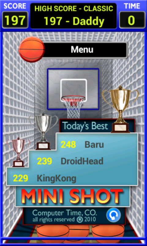 Mini Shot Basketball - screenshot