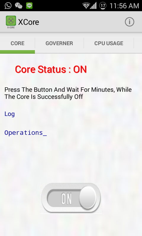 XCore - Save Battery Smartly- screenshot