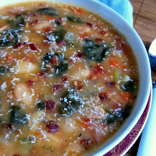 White Bean, Bacon and Spinach Soup.