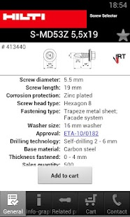 Hilti Screw Selector - screenshot thumbnail