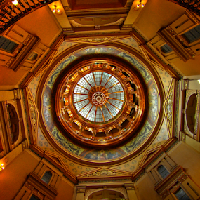 In the Dome by Dave Clark - Buildings & Architecture Public & Historical ( rotunda, dome, kansas, capital )