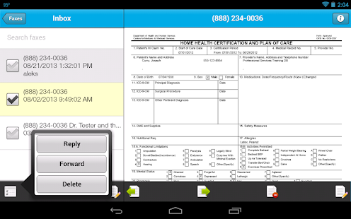 Sfax - Secure faxing on the go- screenshot thumbnail