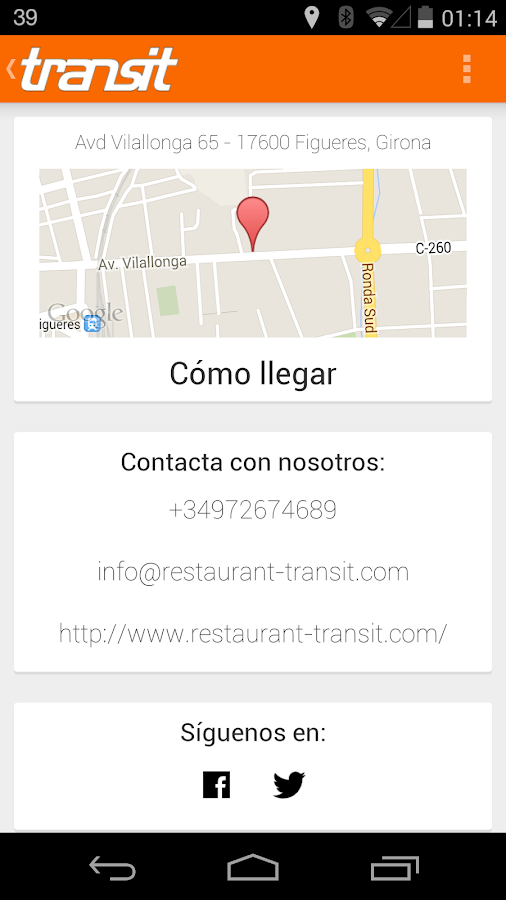 Restaurante Transit (Figueres)- screenshot