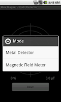 Screenshot of Max Magnetic Field Detector