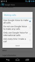 Screenshot of Voice Choice