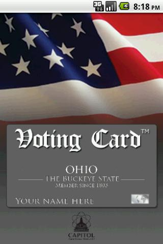 Voting Card Ohio Politics
