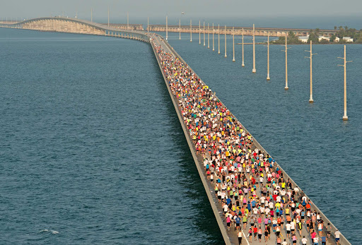 The Seven Mile Bridge Run in the Florida Keys.