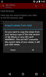 My Wines- screenshot thumbnail