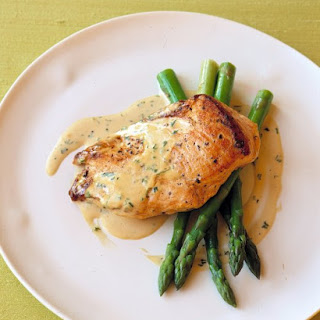 Sauteed Chicken in Mustard-Cream Sauce.