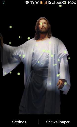 Jesus Fireflie Live Wallpaper