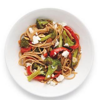 Spaghetti With Feta and Broccoli