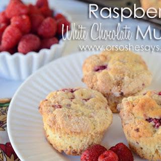 Raspberry White Chocolate Muffins.