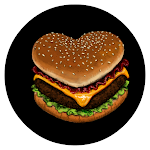 a ♥ shaped hamburger