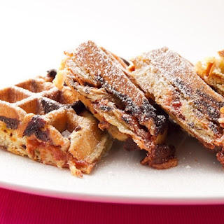 Guava and Cream Cheese Puff-Pastry Waffle.