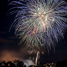 Fireworks by Dennis Scanlon - Public Holidays July 4th ( fireworks,  )