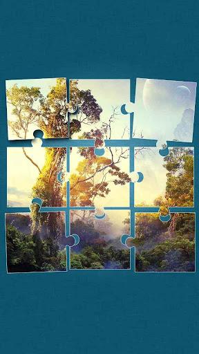 ジャングルのジグソーパズル