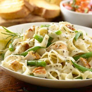 Rosemary Chicken With Herbed Pasta.