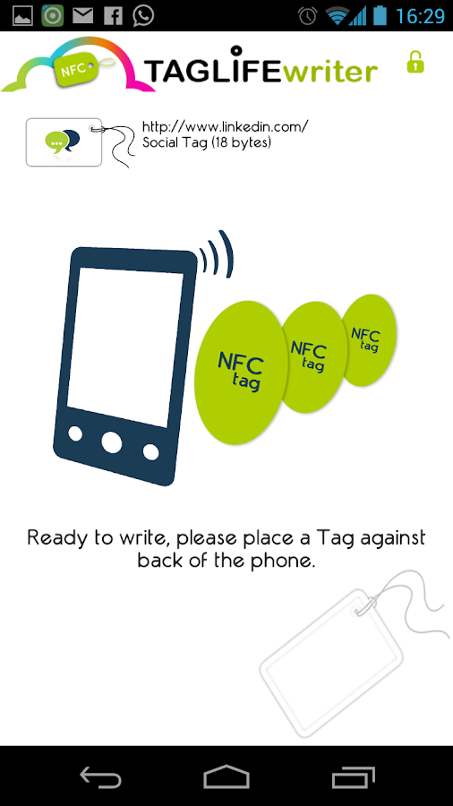 NFC Writer TAGLife- screenshot