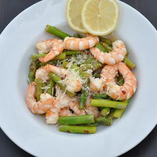 Sauteed Asparagus and Shrimp with Lemon