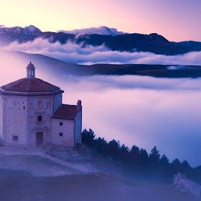 Gran Sasso by Boris Michaliček - Landscapes Mountains & Hills ( mountains, chapel, italy, gran sasso )