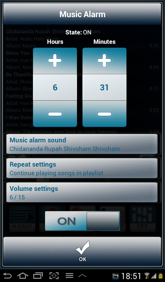 Audio Note Player Trial- screenshot