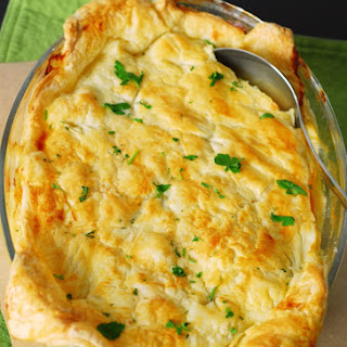 Sausage, Leek, and Potato Pie.
