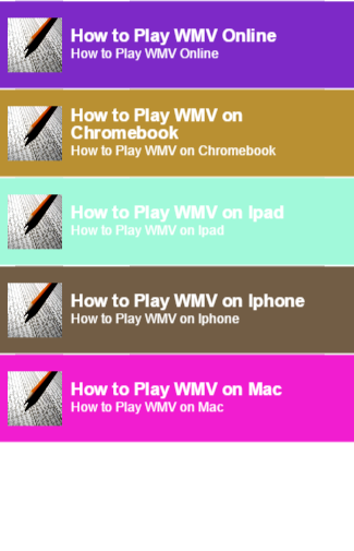 how to play wmv