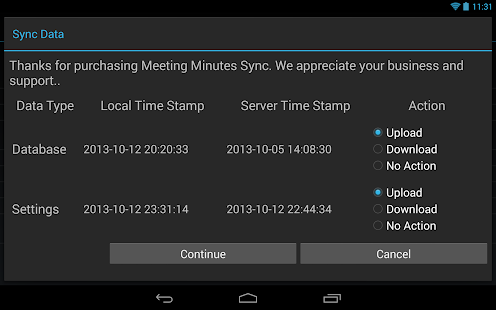 Meeting Minutes Sync - náhled