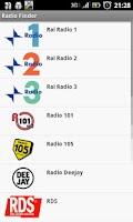 Screenshot of RadioFinder