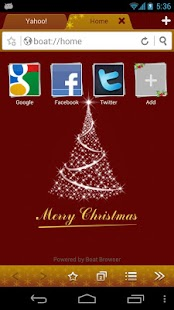 Christmas Boat Browser Theme