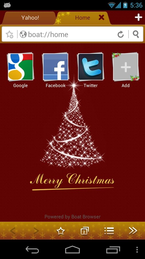 Christmas Boat Browser Theme - screenshot