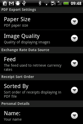 Receipt Catcher - screenshot