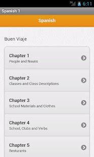 Spanish 1 Vocabulary- screenshot thumbnail