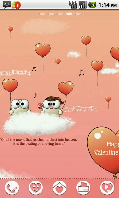 My Valentine GO Launcher Theme- screenshot